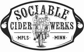 ociable Cider Werks — Minneapolis, MN   Sociable is driven by a pretty simple vision.  Cider should be much more than the lightly-alcoholic, made-from-concentrate, sweet apple juice boxes that currently dominate the shelf space.  Sociable ciders are well carbonated, dry and always made from real apples.  Simply put, they should be enjoyed like great draught beer. Sociable is not just hard cider, we're much more.    / Website