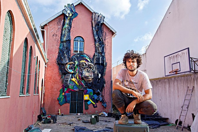 Bordalo II is an amazing artist from Portugal who uses recycled plastic to create (mainly) animals on the streets of Europe and now all over the world. He is one of my inspirations.
