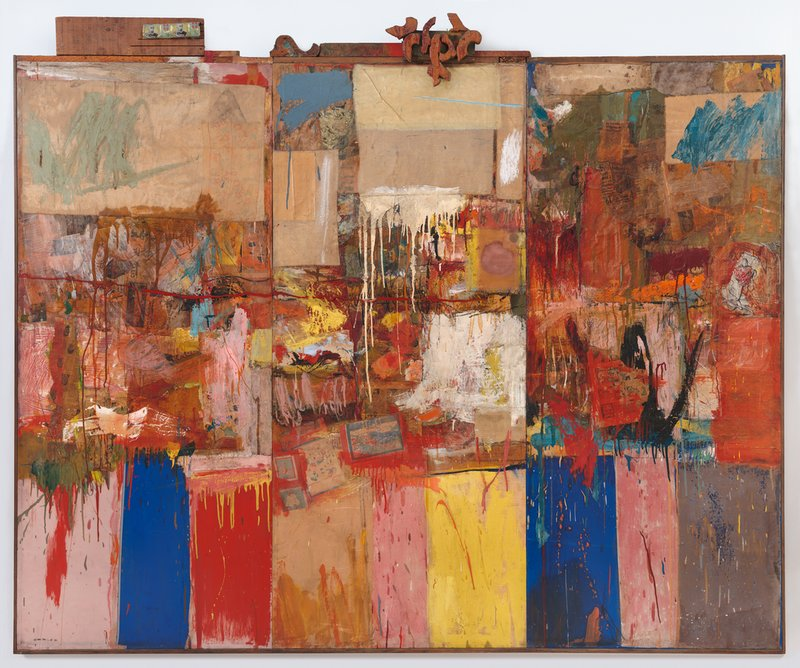 Collection. Robert Rauschenberg. 1954/1955. Paper, Wood, Fabric, Metal and Oil on Canvas.