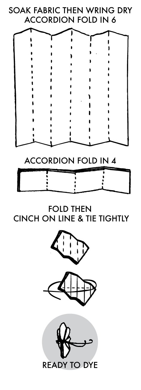 Tied Shibori Diamond Instructions