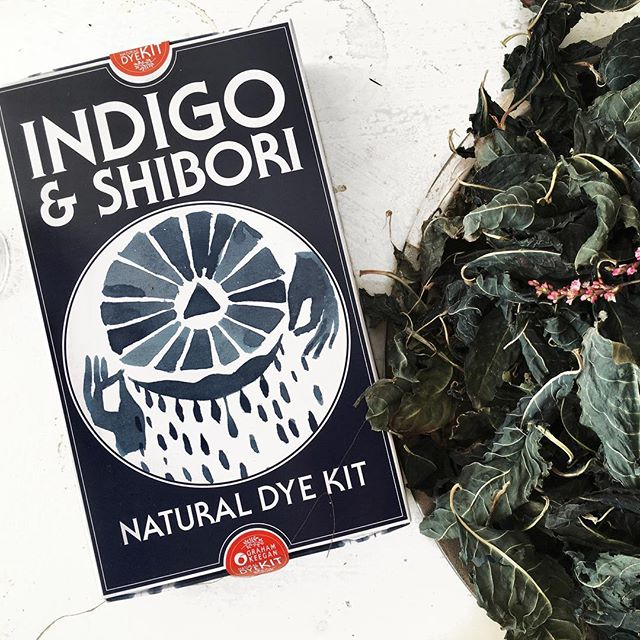 Our kits use indigo from plants, not petroleum. Get a kit via the link in our bio.