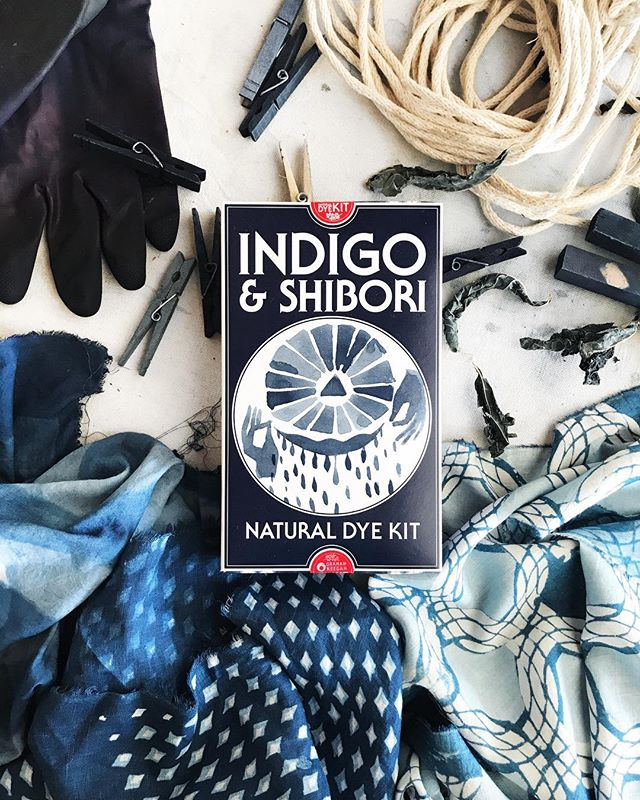 Even though the box says Shibori, you can dye in many different styles. Shown here are two katazome style prints by @yesgraham that are made using layers of rice paste resist, dyed in a 2 kit (10 gallon) vat. The kit will also dye any natural fiber including cotton, hemp or sisal rope for all you macrame fans.  #naturaldyekits #indigoandshibori #katazome #macrame