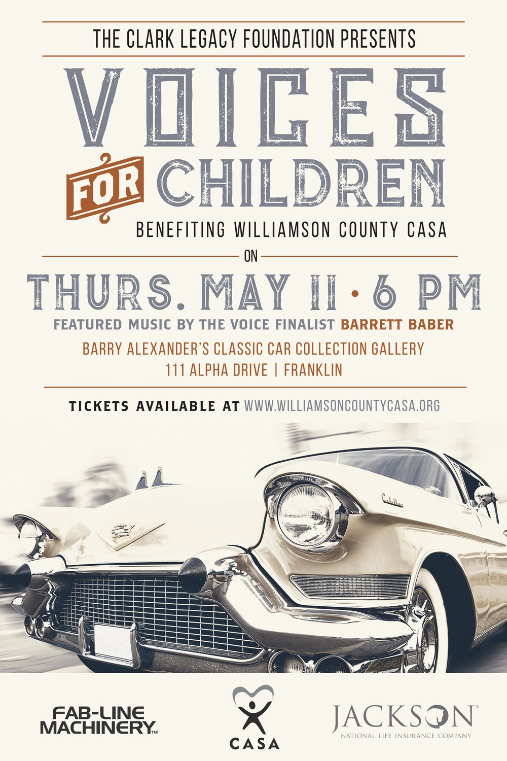 Voices for Children @ Barry Alexander's Classic Car Collection Gallery | Franklin | Tennessee | United States