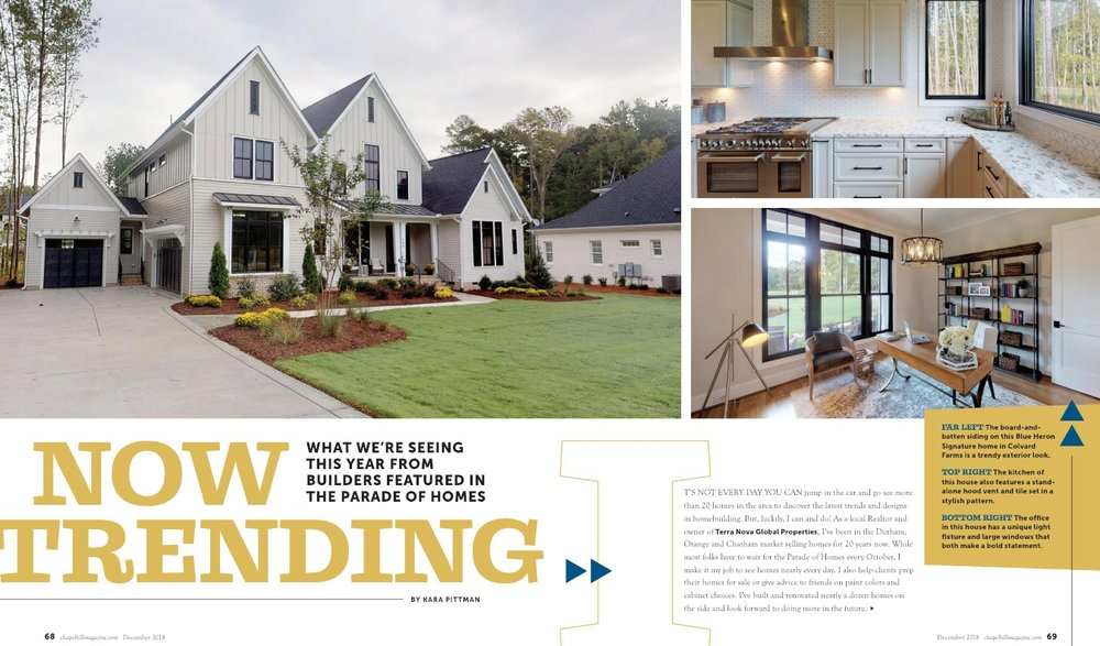 To read Kara's take on today's home trends from the Parade of Homes, Click Here. -
