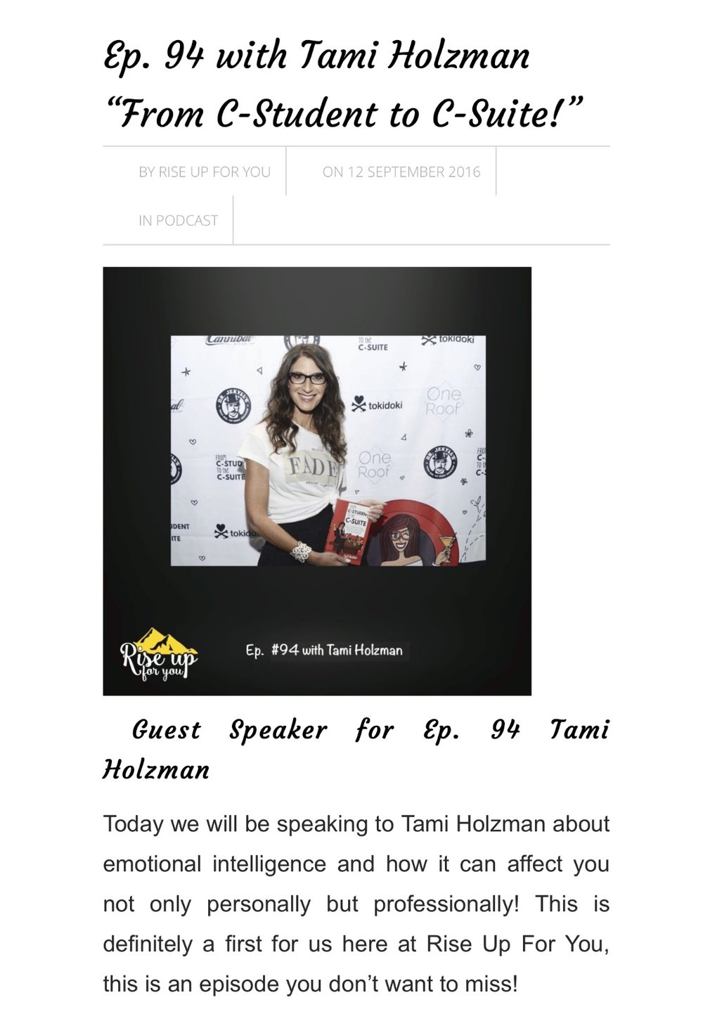 #TamiHolzman Tami Holzman #Keynotespeaker, Keynote Speaker, #emotionalintellegence Emotional Intelligence, #eq #csuite C-Suite #sales Sales #Author #Writer #Speaker, Author, female empowerment, #Business Business #Press Press