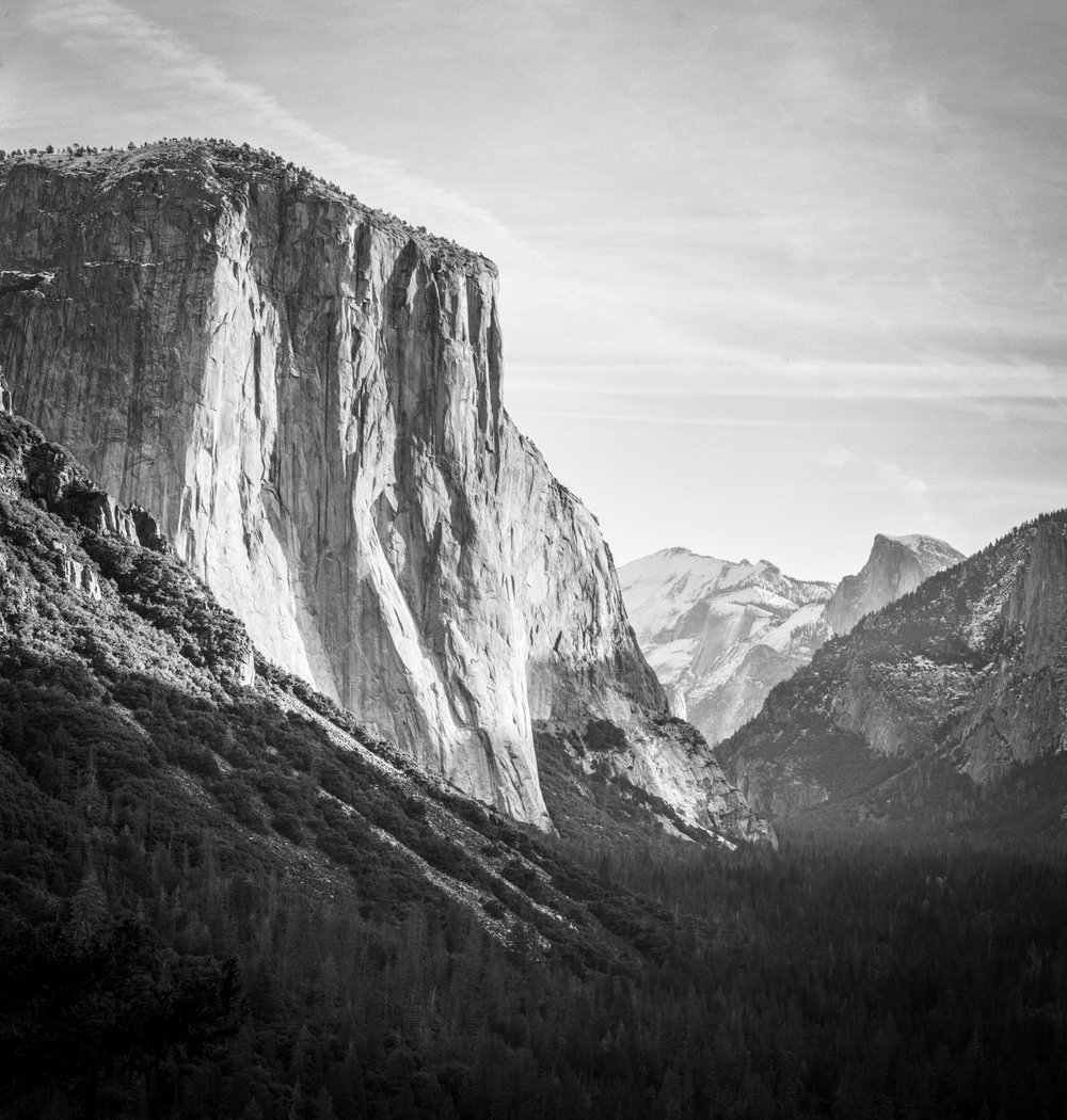 El Capitan, Tunnel View, Yosemite / Ilford FP4