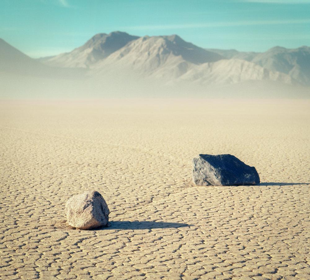 Sailing Stones of Racetrack Playa / Kodak Ektar 100