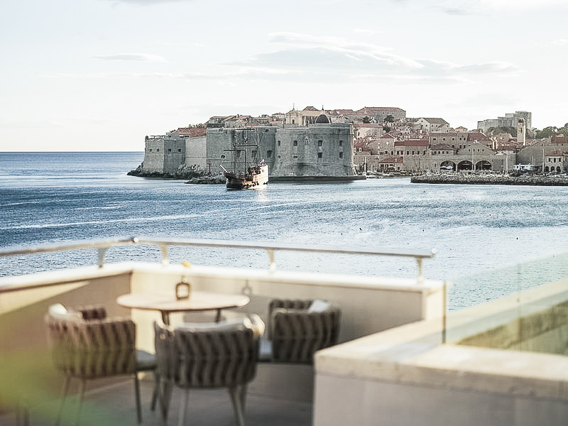 View from the  Hotel Excelsior Dubrovnik  lounge