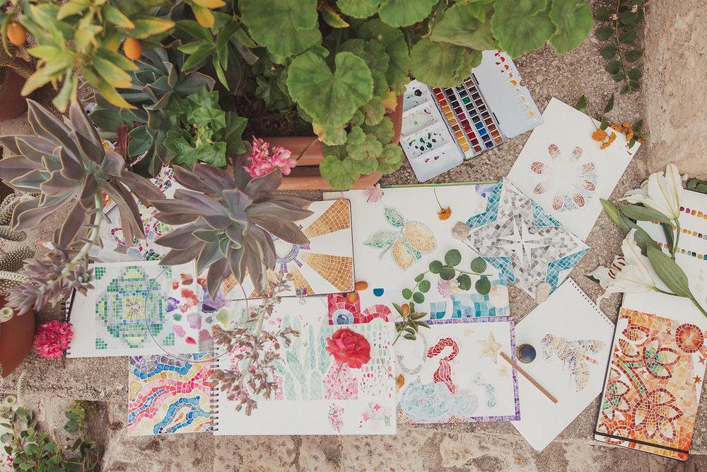 travellur_watercolours_sicily_slow_travel_retreat_paints_colour_art_creative