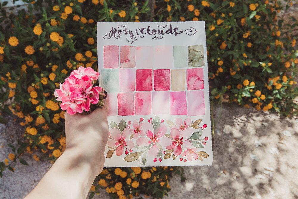 travellur_watercolours_sicily_slow_travel_retreat_colour_pallette_pinks_spring