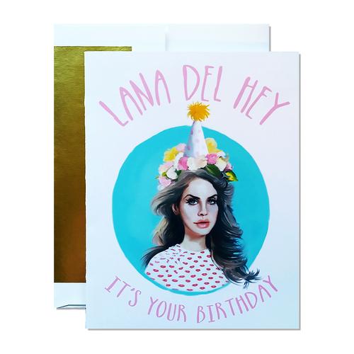 Lana Del Rey Birthday Greeting Card Doozie Bella