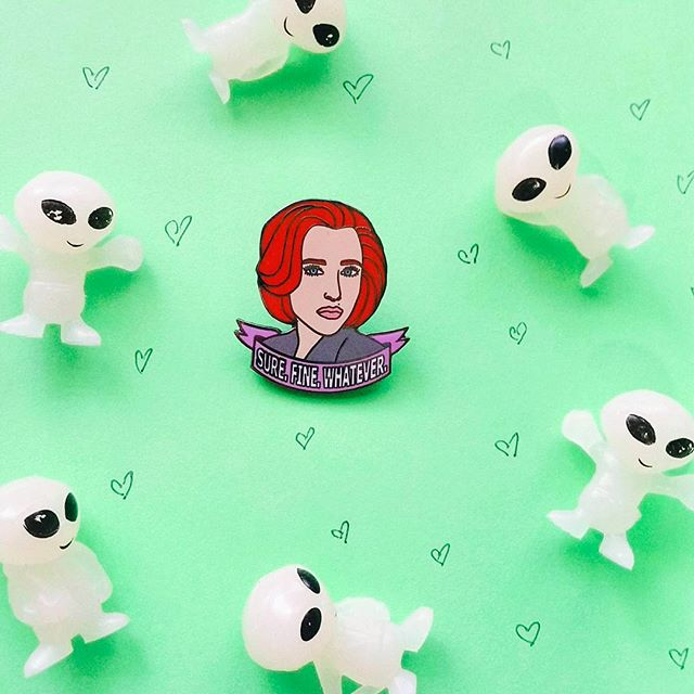 Queen of Sass & Science Dana K. Scullaaaayyyyy MD available for your pin collecting pleasure! 👽💚📿🌲🔬⚕️ dooziebella.com