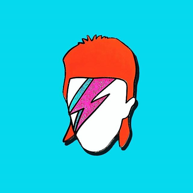 """I've come to the realization that I have absolutely no idea what I'm doing half the time."" - David Bowie (me too my dude, me too) With every purchase of this design, 20% is donated to Save the Music Foundation in David's honor ❤️ dooziebella.com"