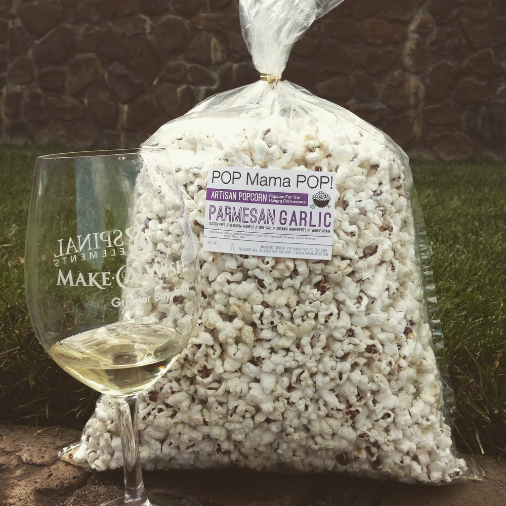 Artisan popcorn supplemented the Make-a-Wish Foundation Fundraiser Gala.