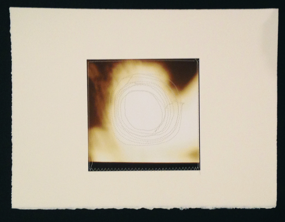 "Circle 3, 11.5""x15"", Archival digital photograph, paper, silk thread, 2014, [sold]"