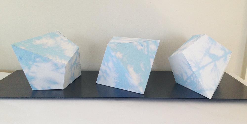 """Tamarack, 20""""x5""""x5"""", archival paper, 2016"""