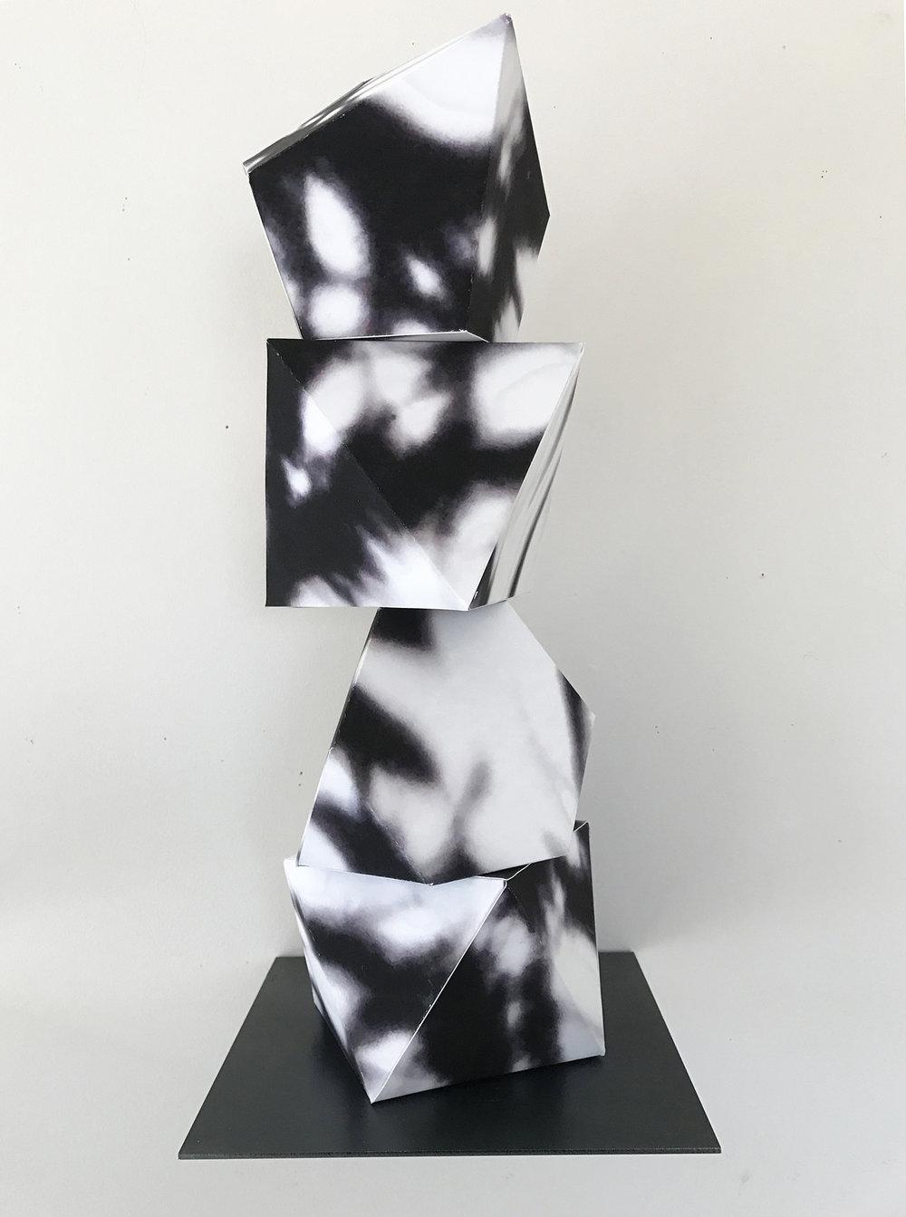 """Pepper, 18""""x6""""x6"""", archival paper, 2016"""