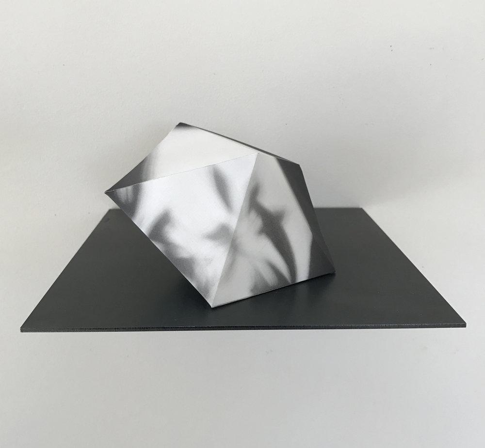 "Satellite One, 4""x4"", rice paper, 2017"