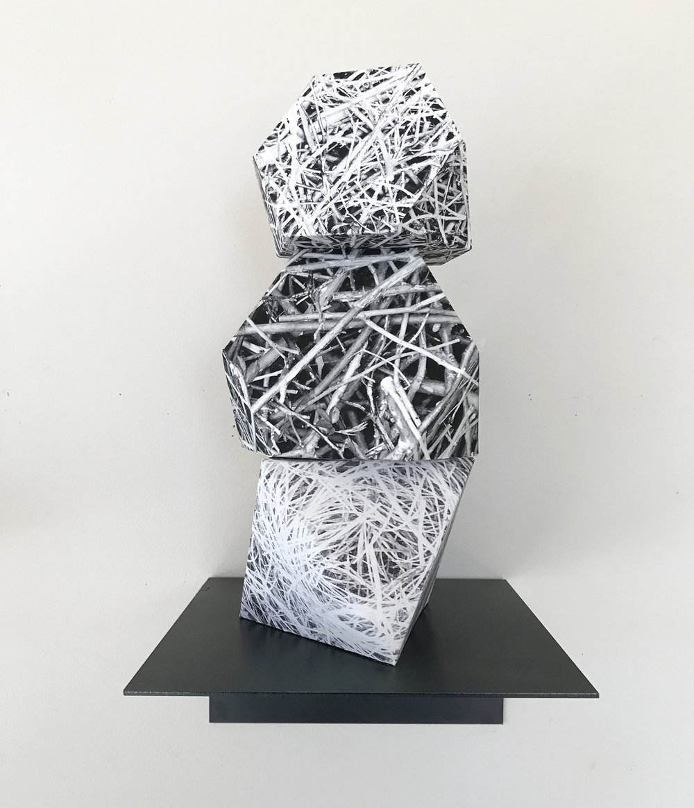 "Nest, 12""x5""x5"", archival paper, 2015"