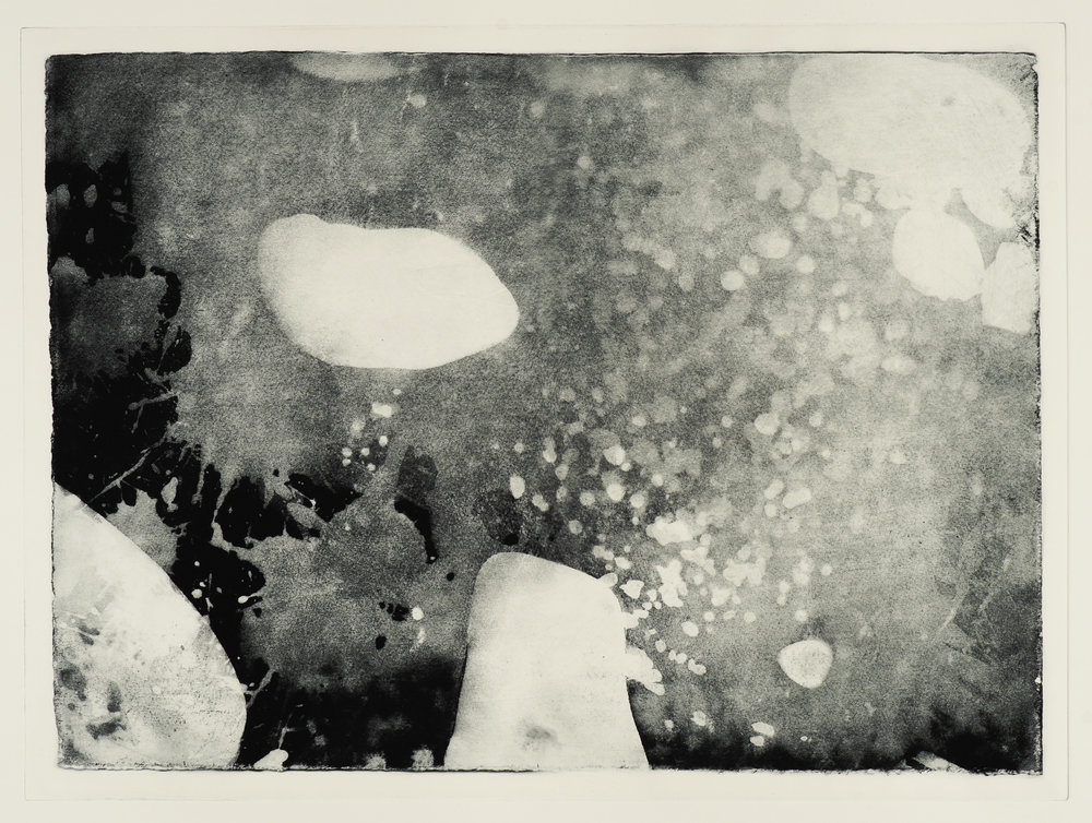 "Shoreline #1, photogravure, ed. of 3. 30""x22"", 2018"