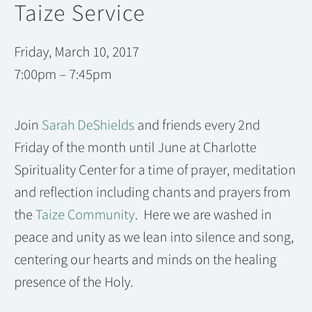 Join us this Friday for taize! Also check our website for upcoming events, link in profile