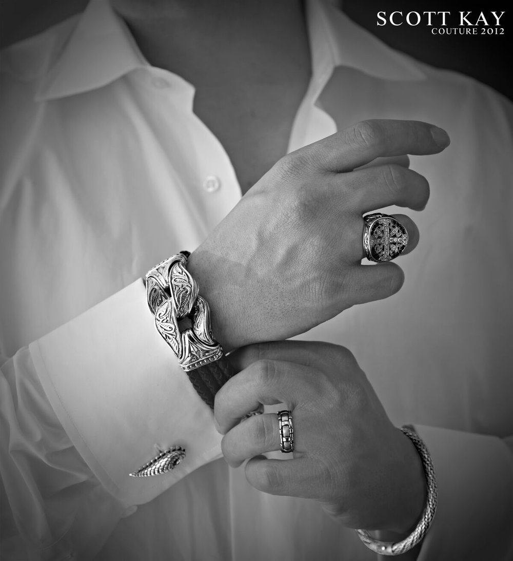 Recognize these devastatingly handsome hands? they're mine! We shot this for the Couture show in Vegas. - Photographer, Walt Gilligan