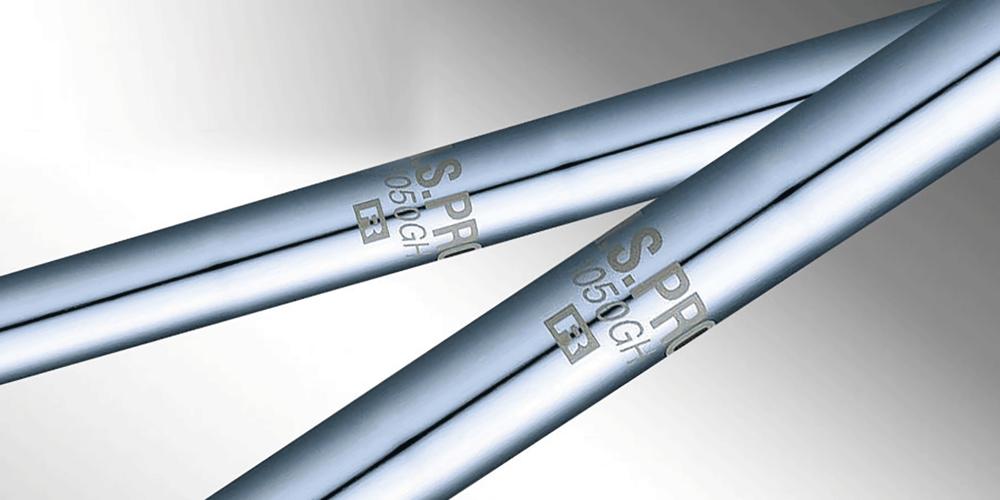 Der N.S. PRO 1050GH Stahl Schaft sorgt für ein etwas härteres Gefühl für Spieler, die schneller schwingen. -