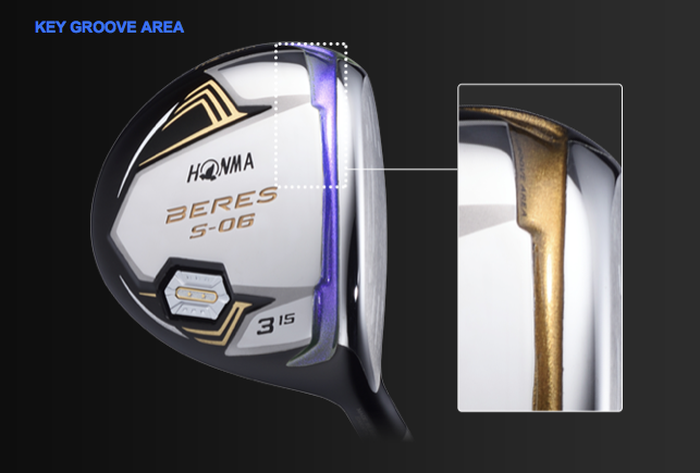 Honma Beres s-06 fairway holz key groove area .png