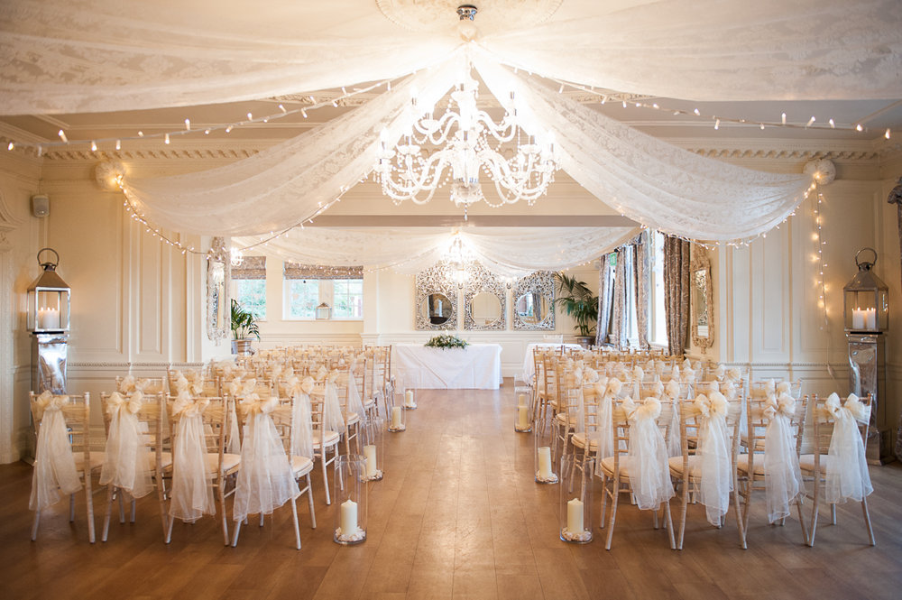 Eave Hall dressed ready for the wedding ceremony. Lancashire wedding photography