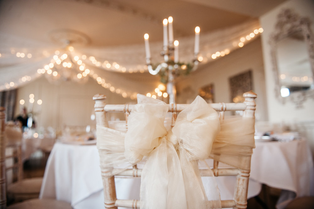 Close up photograph of the chair cover