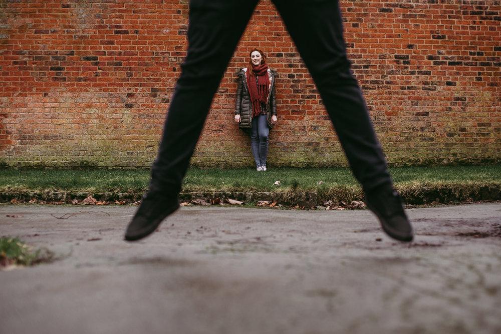 Fun jumping shot. Creative photography Lancashire