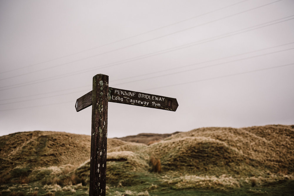 sign post on the pennine moors, Lancashire