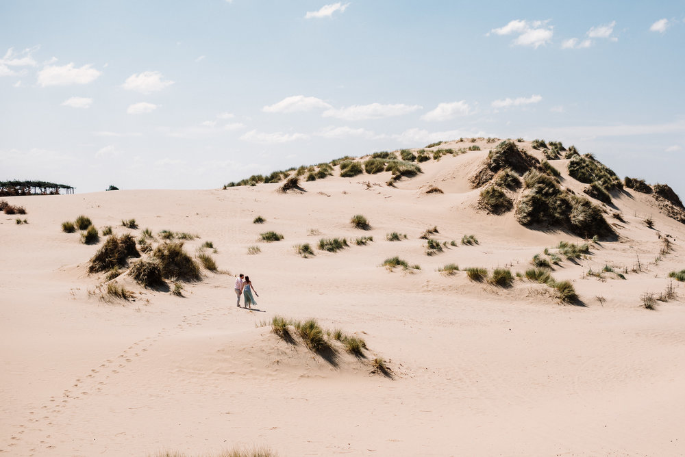 Landscape shot of Formby Beach. Liverpool wedding photographer