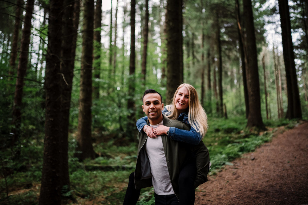 piggy backs in the woods. Natural photography lancashire