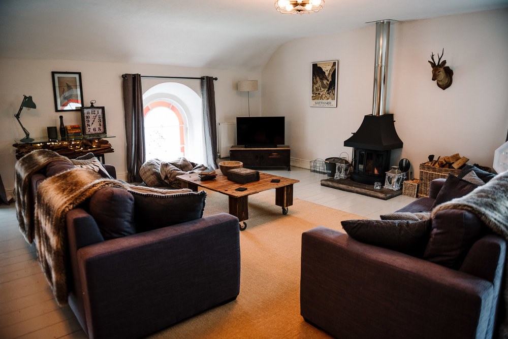 photo of the Living space at the Dreamcatcher in Cornwall.