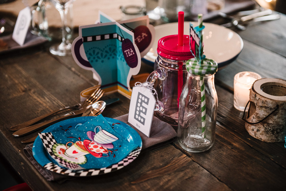 Mad Hatters Tea Party place setting