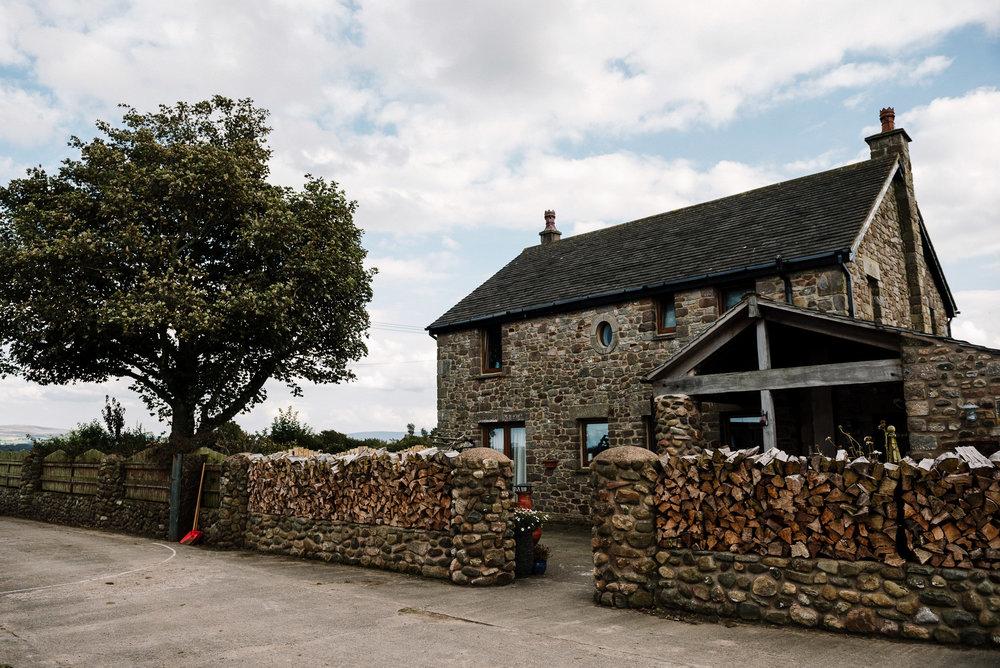Venue shot of farm house