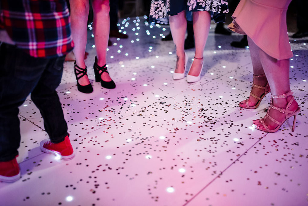 creative photo of guest on the dance floor.