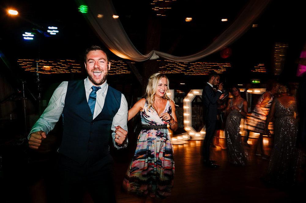 Fun dance floor shot. Bolton Wedding Photography