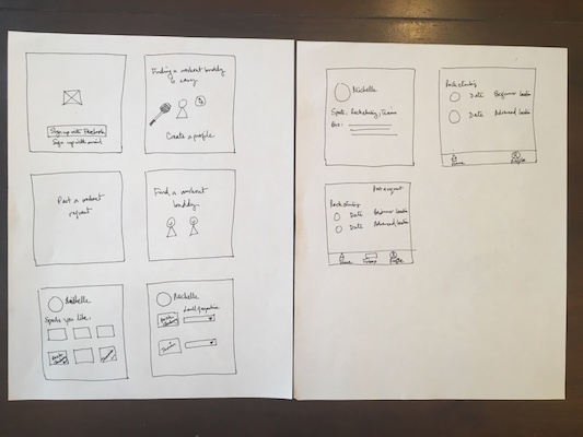 In round 1 of sketching, I brainstormed a variety of features.