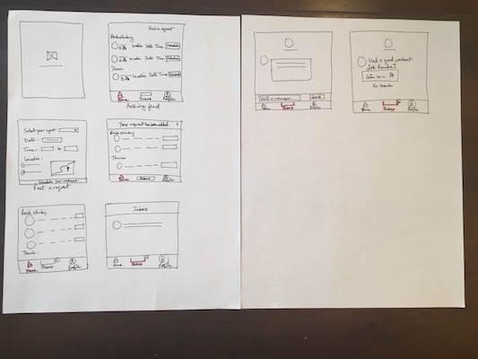 In round 2 of sketching. I dove deeper into the user flow.