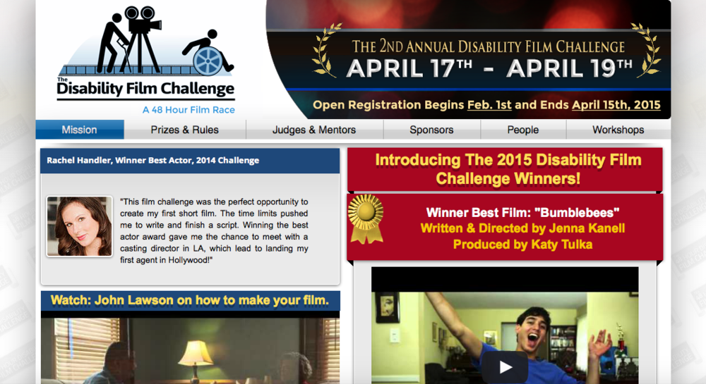 WINNER of the 2015 Disability Film Challenge