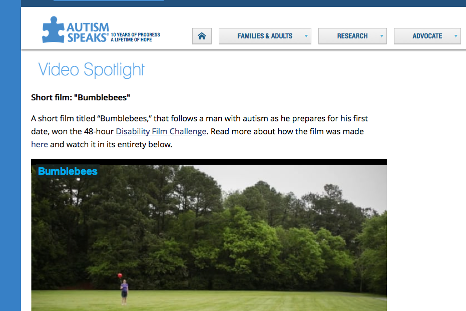 Featured on Autism Speaks