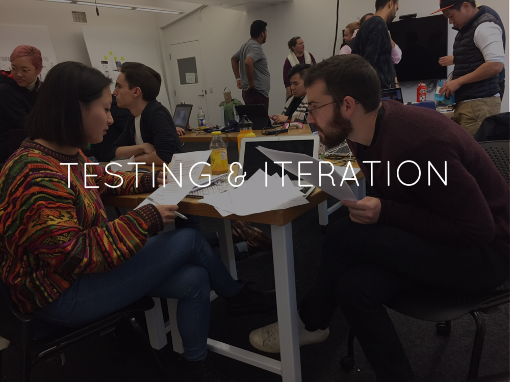 In total, there were 5 rounds of testing. After each round, I quickly processed the valuable feedback I received and made quick changes. With each round, I developed the game mechanics further,and gained a better understanding of how we might facilitate conversations with strangers.