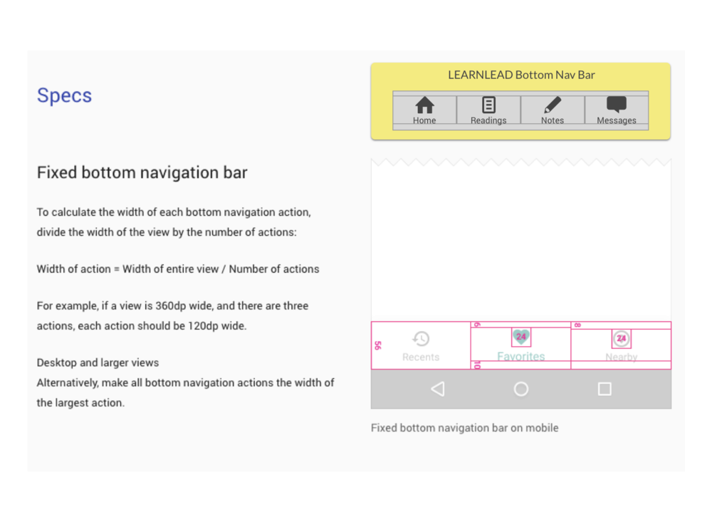 6) MATERIAL DESIGN  I designed the final prototype according to the guidelines of Google's Material Design.