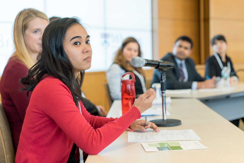 MBAs participating in a student discussion panel during the 2016 MIINT competition.