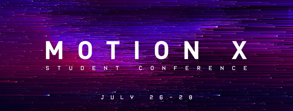 MOTION is a student conference that is founded on the belief that our faith is not meant to be idle, hidden, or contained but instead lived out in MOTION in Christ! We want to see this generation empowered by Jesus, equipped to make a difference, and living out their faith every day!