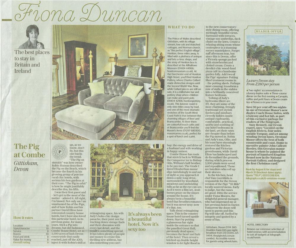 Sunday Telegraph THE PIG at Combe July 16.jpg