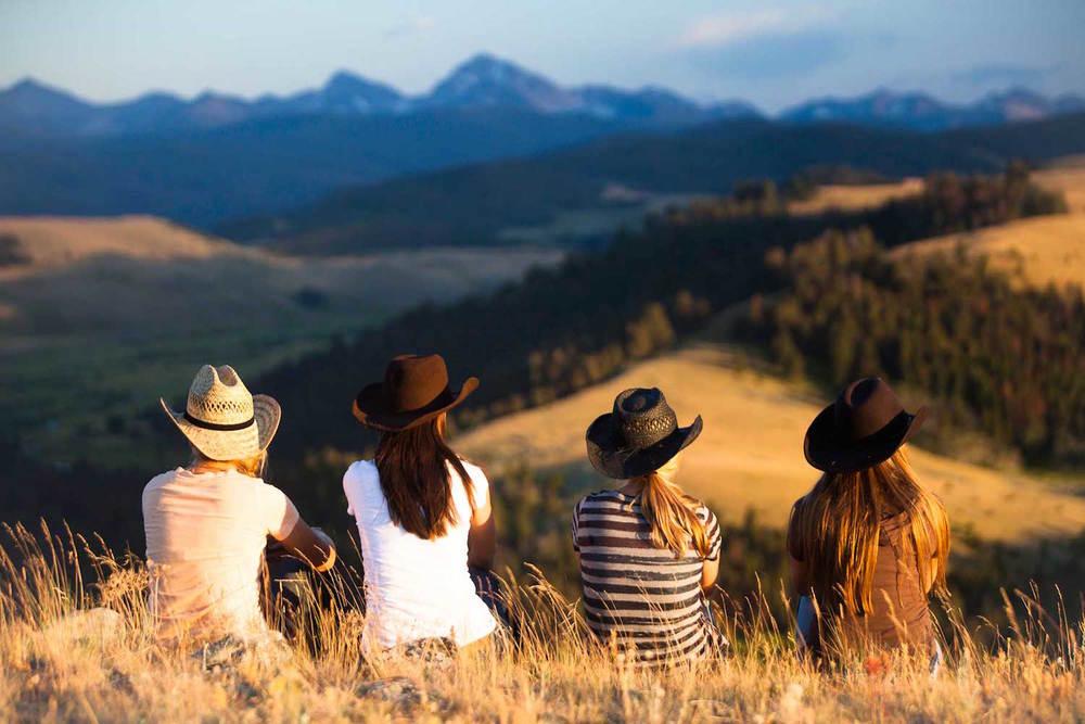 Ranch at Rock Creek-girls in hats.jpg