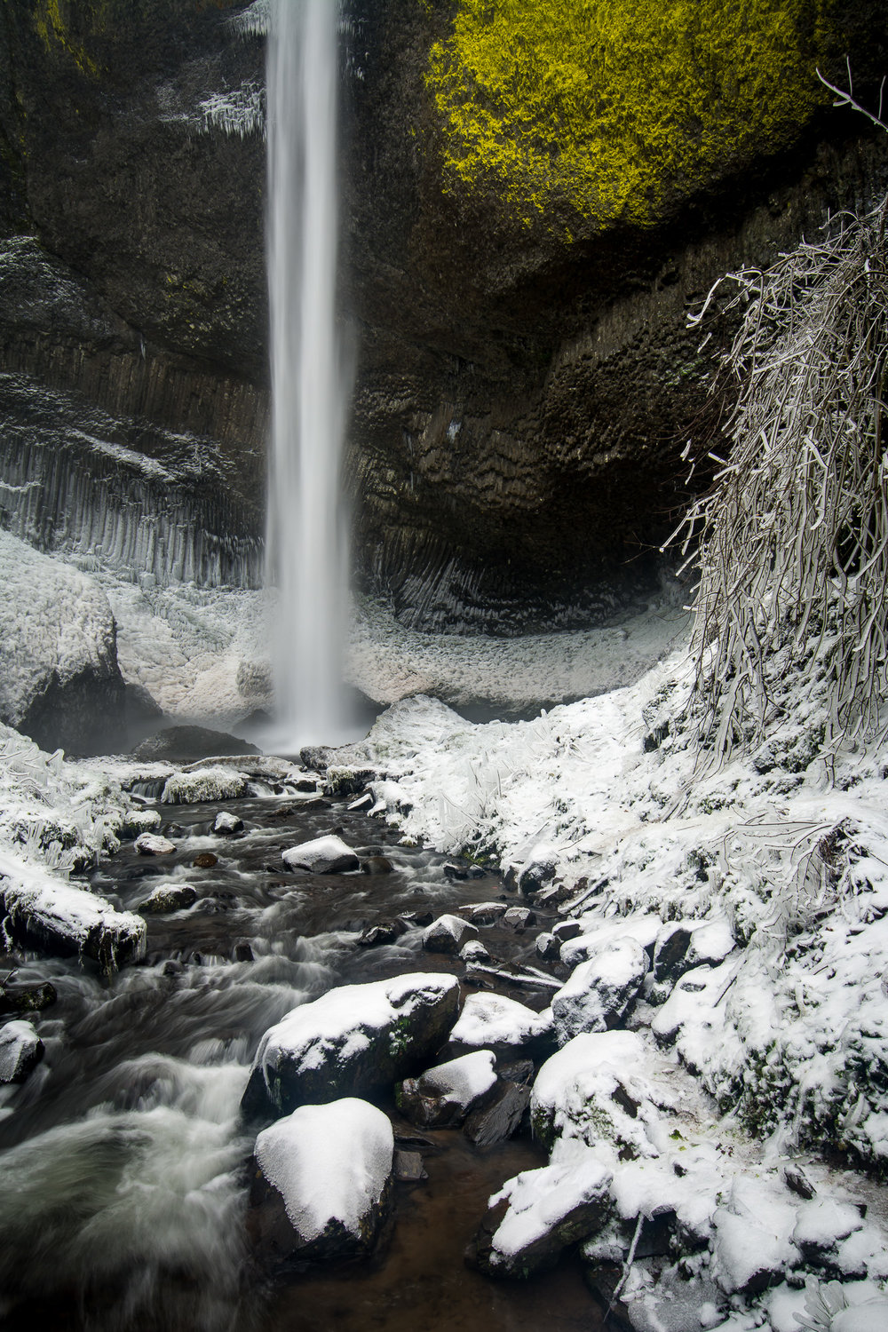 Winter At The Base Of Latourell Falls